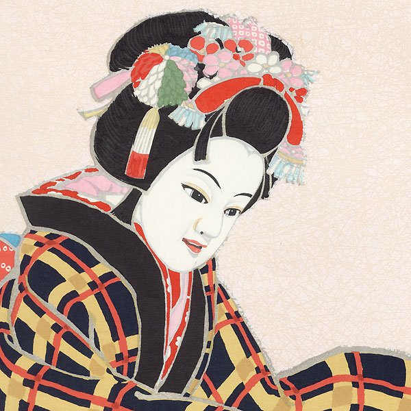 Musume Okoma Bunraku Puppet by Hideki Hanafusa (1914 - ?)