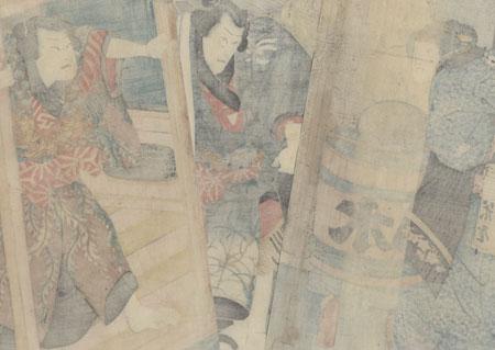 Scene from Futatsu Chocho Kuruwa Nikki, 1852 by Kunisada II (1823 - 1880)