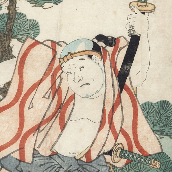 Bando Muraemon I as Sagisaka Bannai, 1859 by Toyokuni III/Kunisada (1786 - 1864)