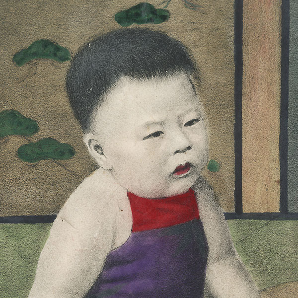 Babies with Toys by Meiji era artist (unsigned)