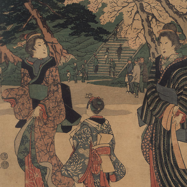 Cherry Blossom Viewing, 1847 - 1852 by Hiroshige (1797 - 1858)