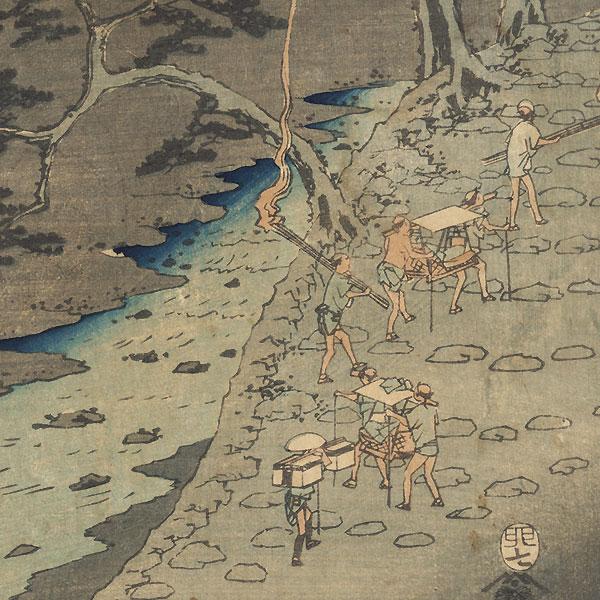 Hakone: Traveling at Night, 1855 by Hiroshige (1797 - 1858)