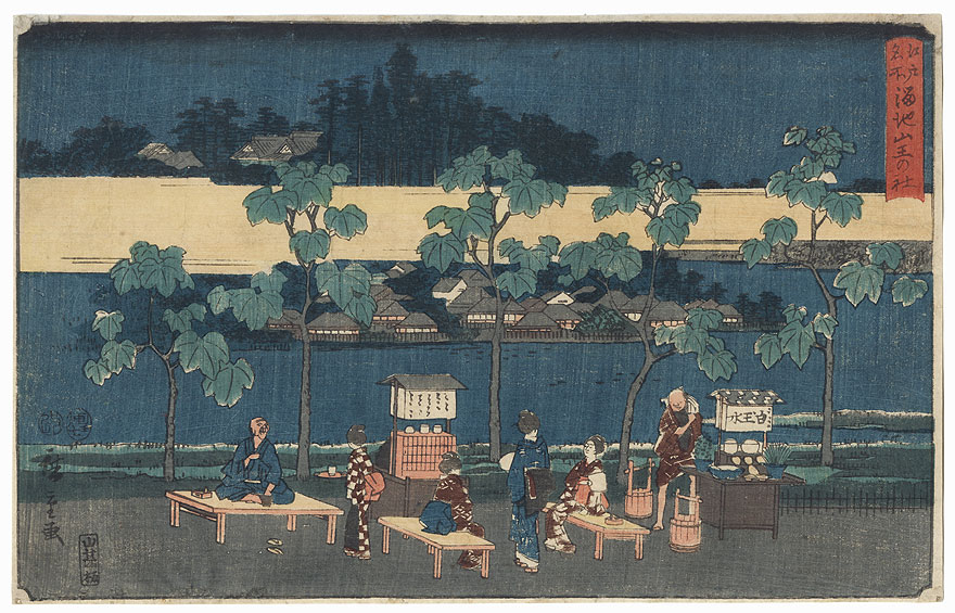 The Reservoir and the Sanno Shrine, 1854 by Hiroshige (1797 - 1858)