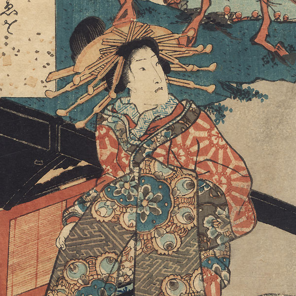 Aoi, Chapter 9, 1852 by Toyokuni III/Kunisada (1786 - 1864)