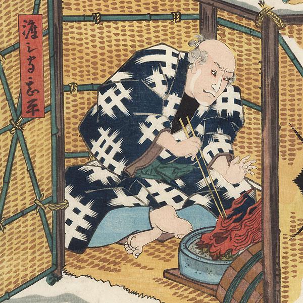 Scene from Higashiyama Sakura Zoshi, 1851 by Toyokuni III/Kunisada (1786 - 1864)