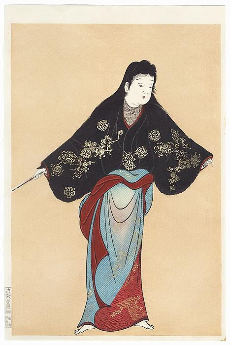 Beauty Dancing by Edo era artist (unsigned)
