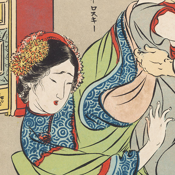 Spring Images of Young Nurses and Caregivers by Meiji era artist (unsigned)