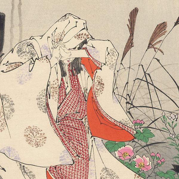 Horin Temple Moon by Yoshitoshi (1839 - 1892)