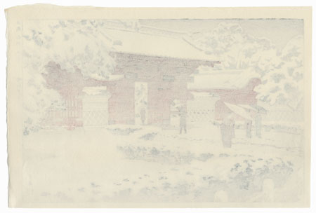 Red Gate at Hongo in Snow, 1935 by Shiro Kasamatsu (1898 - 1991)