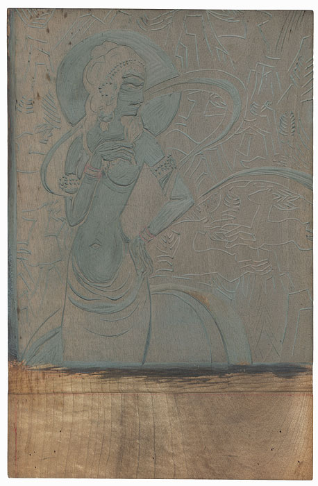 Buddhist Deity Printing Block by Aota Kenzo (born 1945)