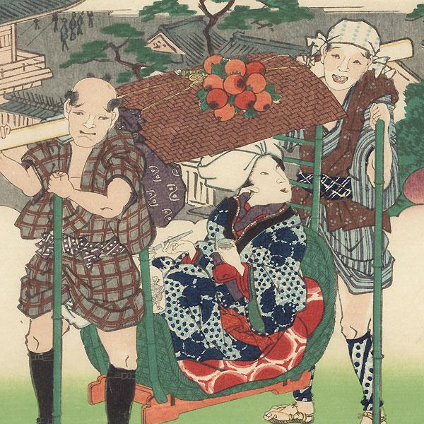 Horinouchi by Toyokuni III/Kunisada (1786 - 1864) and Hiroshige II (1826 - 1869)