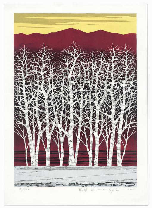 Daybreak III, 2003 by Fumio Fujita (born 1933)