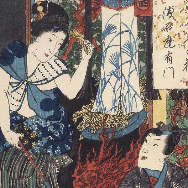 Yugao, Chapter 4, 1852 by Toyokuni III/Kunisada (1786 - 1864)
