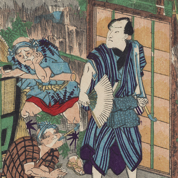 The 47 Ronin, Act 6: The Departure of Okaru and the Suicide of Kampei by Yoshitora (active circa 1840 - 1880)