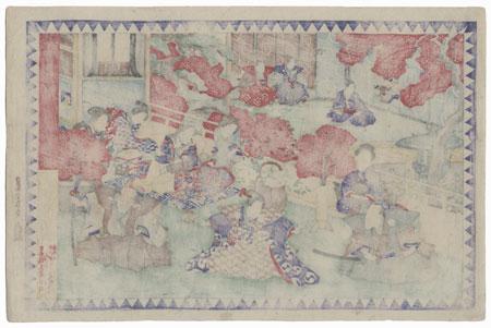 The 47 Ronin, Act 4: Vacating the Mansion by Yoshitora (active circa 1840 - 1880)