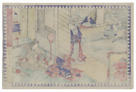The 47 Ronin, Act 2: Wakasanosuke's Mansion: The Pine-cutting Scene by Yoshitora (active circa 1840 - 1880)