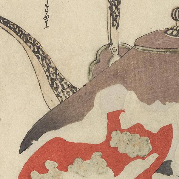 Elegant Chronicles of New Year Sake Surimono by Gakutei (1786 - 1868)