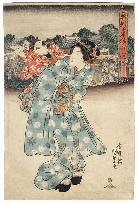 Kayabacho in the Eastern Capital by Toyokuni III/Kunisada (1786 - 1864)