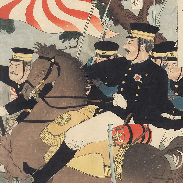 Fierce Battle at Pyongyang, 1894 by Ginko (active 1874 - 1897)