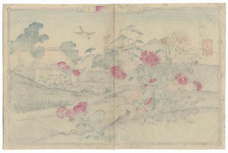 Birds and Chrysanthemums by Rinsai (1847 - ?)