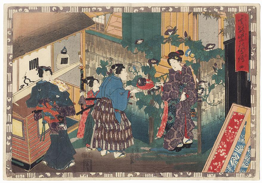 Yugao, Chapter 4 by Toyokuni III/Kunisada (1786 - 1864)