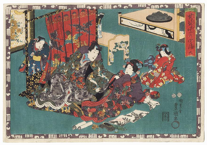 Suetsumuhana, Chapter 6 by Toyokuni III/Kunisada (1786 - 1864)