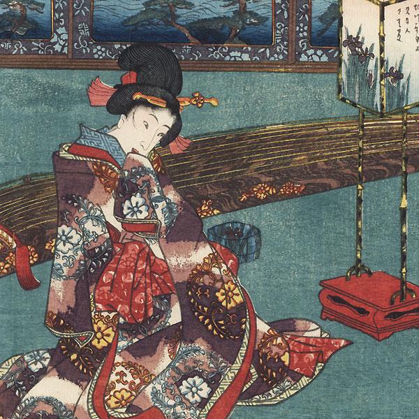 Matsukaze, Chapter 18 by Toyokuni III/Kunisada (1786 - 1864)