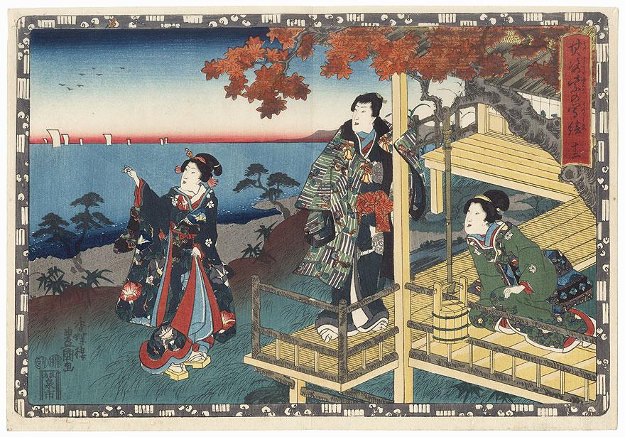 Suma, Chapter 12 by Toyokuni III/Kunisada (1786 - 1864)