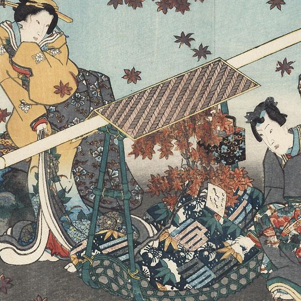 Sekiya, Chapter 16 by Toyokuni III/Kunisada (1786 - 1864)