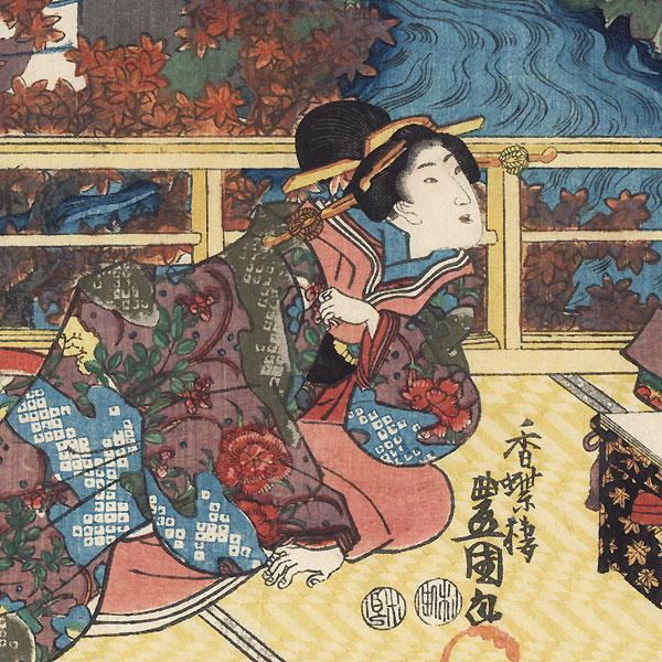Momiji no ga, Chapter 7 by Toyokuni III/Kunisada (1786 - 1864)