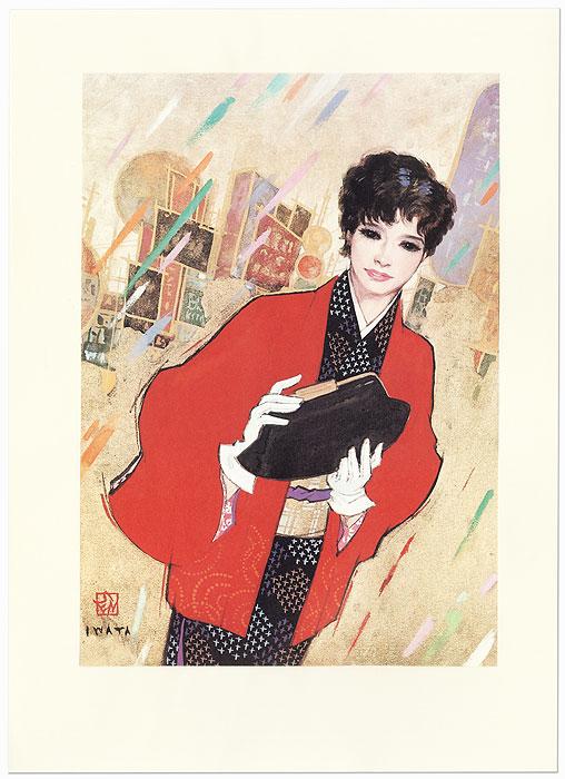 Beauty with a Handbag by Iwata Sentaro (1901 - 1974)