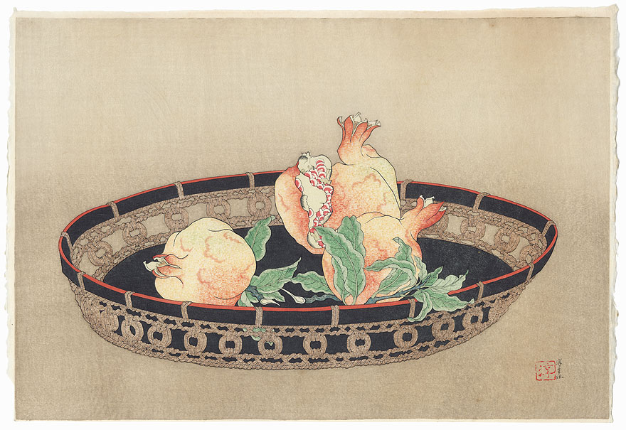 Pomegranates in a Basket by Mitsui Atsuo