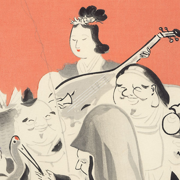 The Seven Lucky Gods (Right) by Wada Sanzo (1883 - 1968)