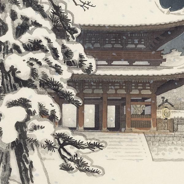 Ninnaji Temple Gate in Snow by Nisaburo Ito (1910 - 1988)