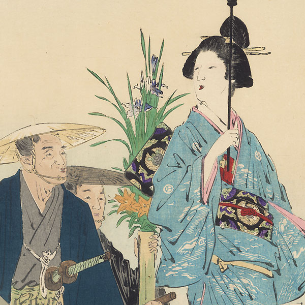 Visiting  a Grave by Gekko (1859 - 1920)
