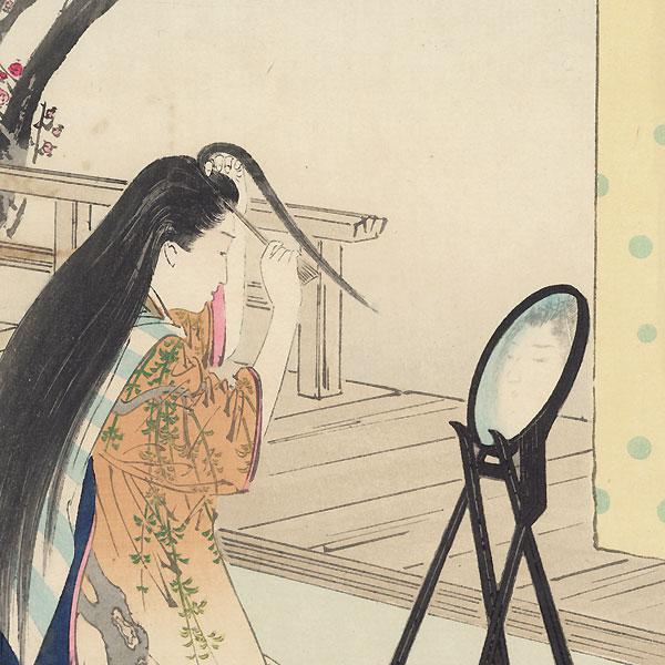 Arranging Hair by Gekko (1859 - 1920)