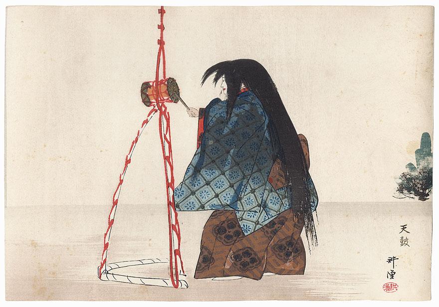 Tenko (The Heavenly Drum) by Tsukioka Kogyo (1869 - 1927)