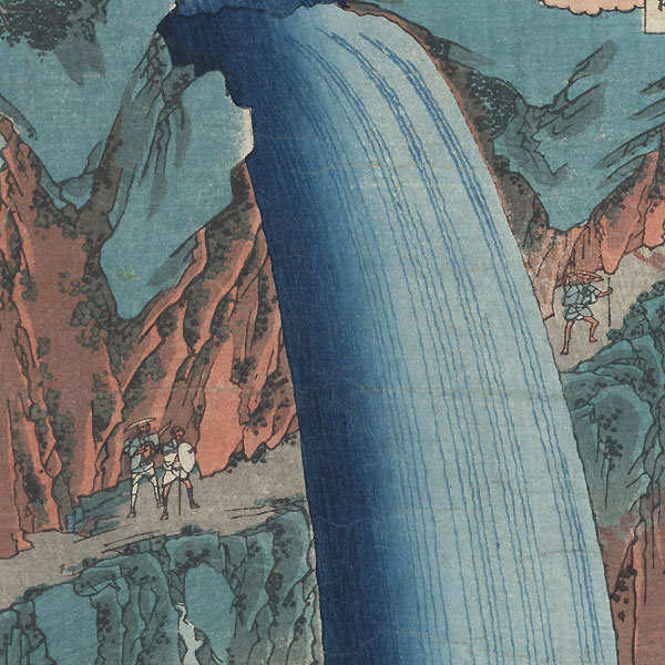 Shimotsuke Province, Mount Nikko, Urami Waterfall, 1853 by Hiroshige (1797 - 1858)