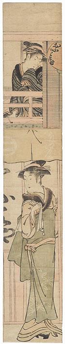 Teahouse Beauties Kakemono by Edo era artist (unsigned)