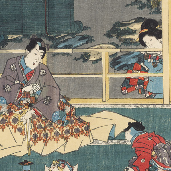 Tamakazura, Chapter 22 by Toyokuni III/Kunisada (1786 - 1864)