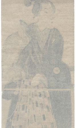 Young Falconer Kakemono by Toyokuni III/Kunisada (1786 - 1864)