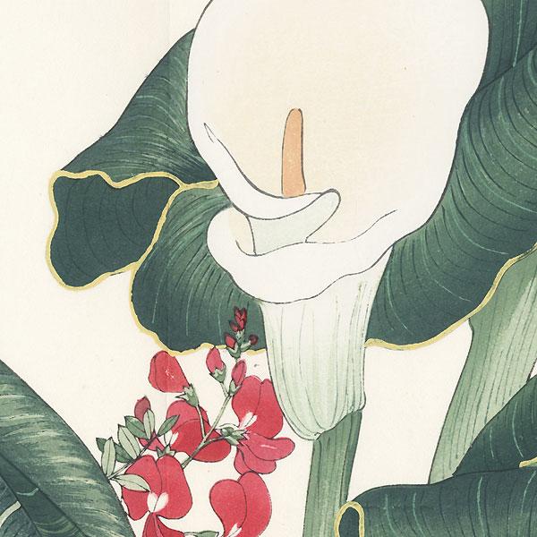Calla Lily and Lathyrus by Tanigami Konan (1879 - 1928)
