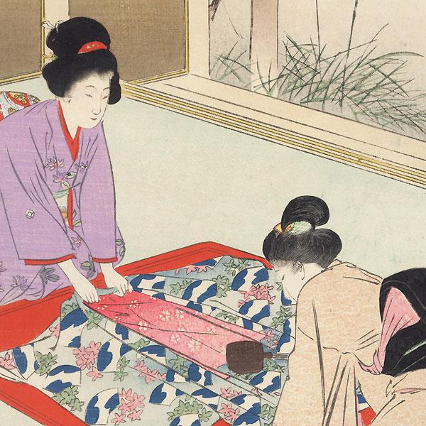 Kimono by Shuntei Miyagawa (1873 - 1914)
