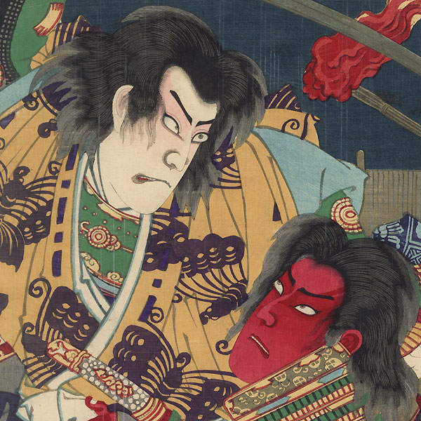 Night Attack of the Soga Brothers, 1881Night Attack of the Soga Brothers, 1881 by Chikanobu (1838 - 1912)
