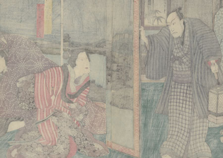 Scene from Nezumi Komon Haru no Shingata, 1857 by Toyokuni III/Kunisada (1786 - 1864)