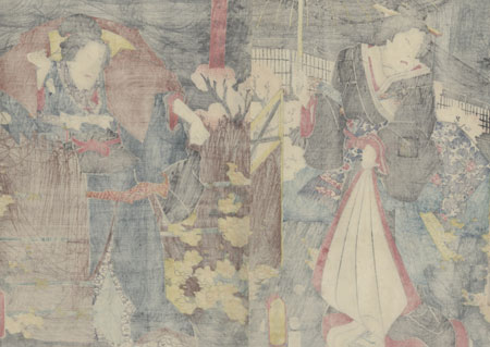 Scene from Kagamiyama, 1853 by Toyokuni III/Kunisada (1786 - 1864)