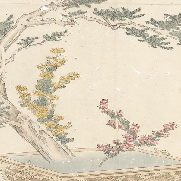 Floral Arrangement Surimono by Meiji era artist (not read)