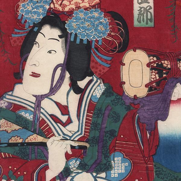 Shirabyoshi Dancer, 1875 by Kunichika (1835 - 1900)