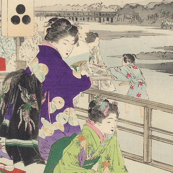 Evening Breeze by Gekko (1859 - 1920)
