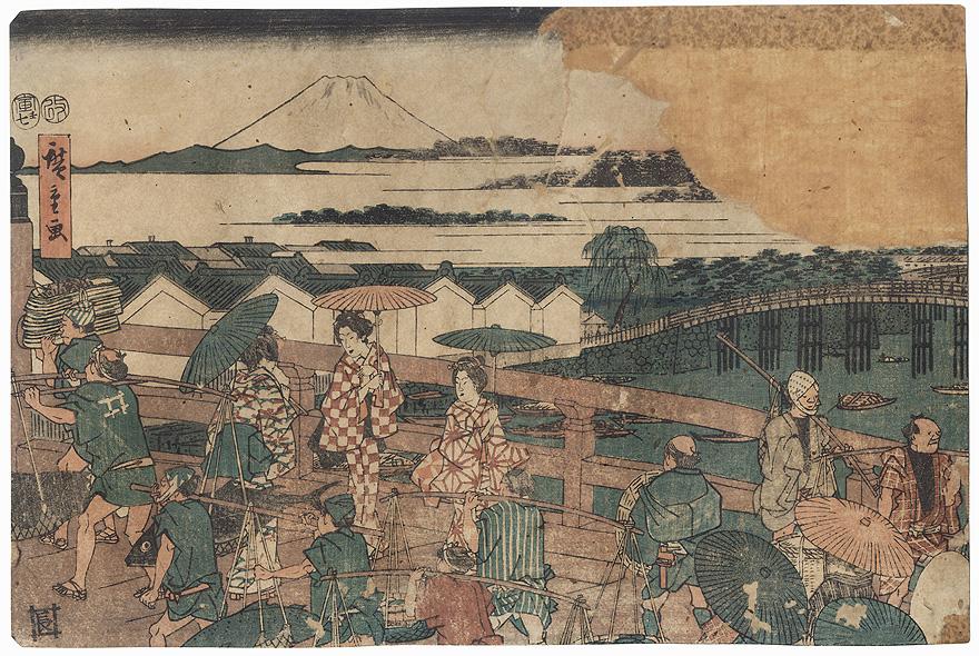 Nihon Bridge, 1854 by Hiroshige (1797 - 1858)